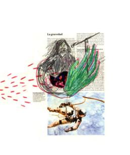 ilustración sobre impresión