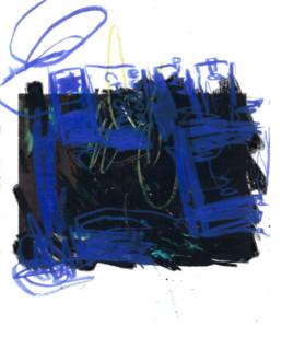 ilustración azul y negro