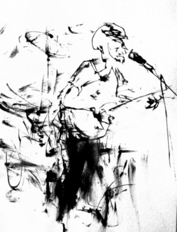 ilustración cantante